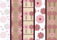Rosa und Brown Floral Photoshop Patterns