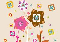Roze en Bruin Floral Photoshop Wallpaper