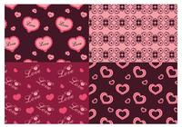 Valentine's Day Love Photoshop Patterns