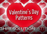 Valentine's Day: Free Heart High Resolution Patterns