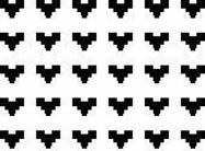 Pixel hart zwart