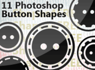 11 Photoshop Two-Hole Button Shapes