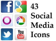 Iconos de medios sociales PSDs