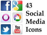 Sociale media iconen psds