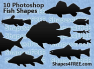 10 Photoshop Fish Shapes för marina design