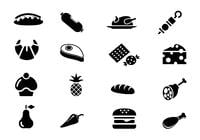 Food icon brush pack