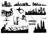 City Scenes Brush Elements