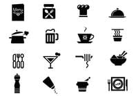 Restaurant Icons Pinsel Pack
