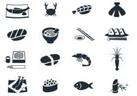 Seafood Icons Brush Pack