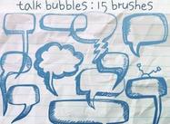 Talk Bubbles Doodles