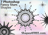 Photoshop Custom Shapes - 7 Stars for Fancy Designs