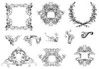 Leafy Frames und Ornamente Brush Pack