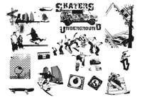Skateboarders brush pack