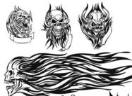 Skull Tattoo Brushes