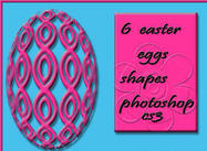6 free easter eggs shapes