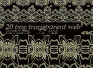 20 bordas transparentes da web transparente do png