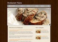 Website sjabloon voor restaurants
