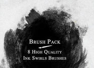 Bläck Swirls Brush Pack