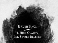 Ink Swirls Brush Pack