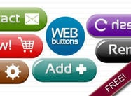 Web Button PSDs