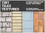 Pequenas texturas de azulejos