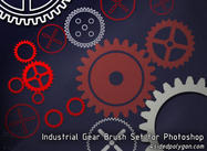 Stylized Gears Brushes