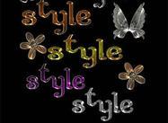 Styles de couleurs en métal