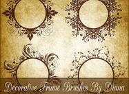 Decorative Swirl Frame Brushes