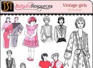Vintage girls Free Brushes