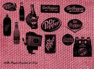 Dr. Pepper Vintage Brushes