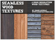 6 Seamless Wood Textures