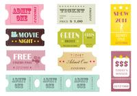 Retro Tickets Brush Pack