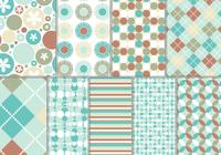 Turquoise and Rust Photoshop Pattern and Wallpaper Pack