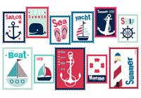 Sailor Sommer Stempel Pinsel Pack