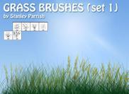 Juego de pinceles de hierba gratis 1