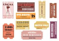 Movie and Event Tickets Brushes