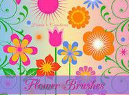Pincéis de flores vetoriais