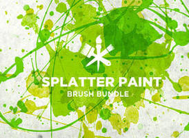 Splatter-paint