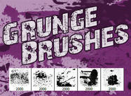 5 Hallo-Res Grunge Brushes