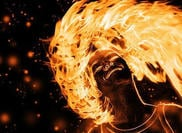 Flaming Girl PSD