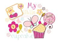 Mijn Yummy Cupcake Brush Pack