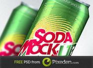 Modèle de maquette de soda