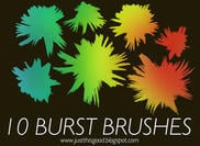 10 Paint Burst Pinsel