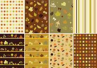 Warm Fall Photoshop Pattern Pack