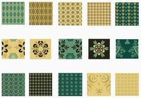 Emerald och Gold Photoshop Pattern Pack