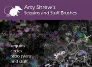 Arty Shrew's Sequins Brushes