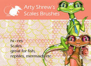 Arty Shrew's Scales Brushes