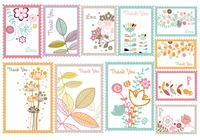 Vintage Floral Stamp Brush Pack