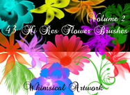 Whimsical Artwork 43 Hi Res Floral Photoshop Brushes Volume2