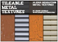 10 Tileable Metal Textures